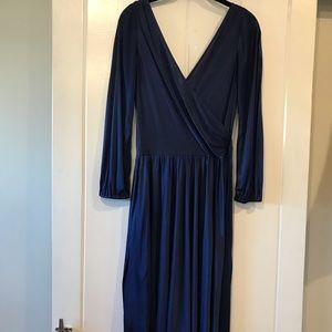 Halston Heritage Blue Wrap Dress
